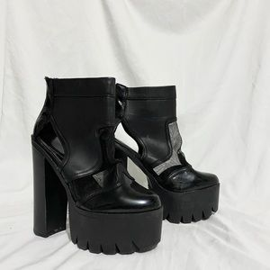 🔆 Patent Chunky Platform Heels